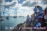ARC yachts head out to the start as spectators watched them head through a 'gate' before making their way to the start line. Das Auslaufen der ARC-Flotte aus dem Hafen von Las Palmas auf Gran Canaria ist ein Riesenspektakel. © WCC / James Mitchell