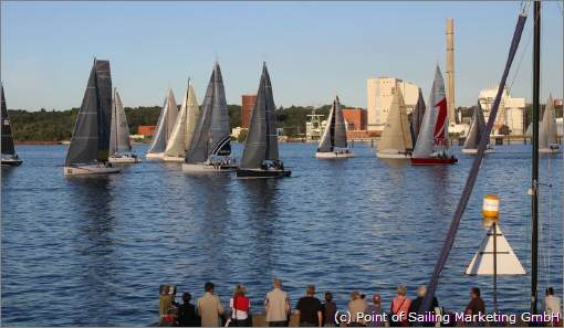 Start zum BlueRibbonCup 2016. 2017 heißt die Langstreckenregatta Sydbank Cup (c)  Point of Sailing Marketing GmbH