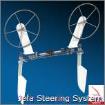 Dame Awards der METS 2014  für das neue Jefa Steering System: Jefa has developed a revolutionary traveller system for twin wheel, twin rudder sailing yachts which has no backlash and it is a huge space saver. The new Jefa traveller is free off backlash and specially made to attach cables and draglinks.