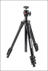 Manfrotto MKCOMPACTLT-BK Compact Light Dreibein-Stativ