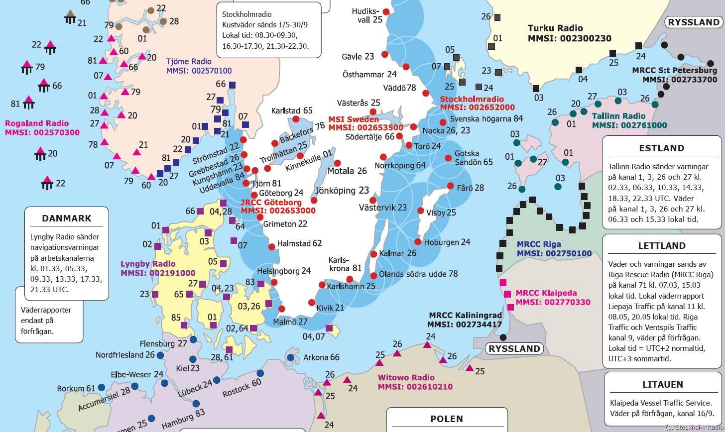 Yachtfernsehen.com Seefunk - segeln, sailing, Segelyachten ... - Karte Deutschland Ostsee